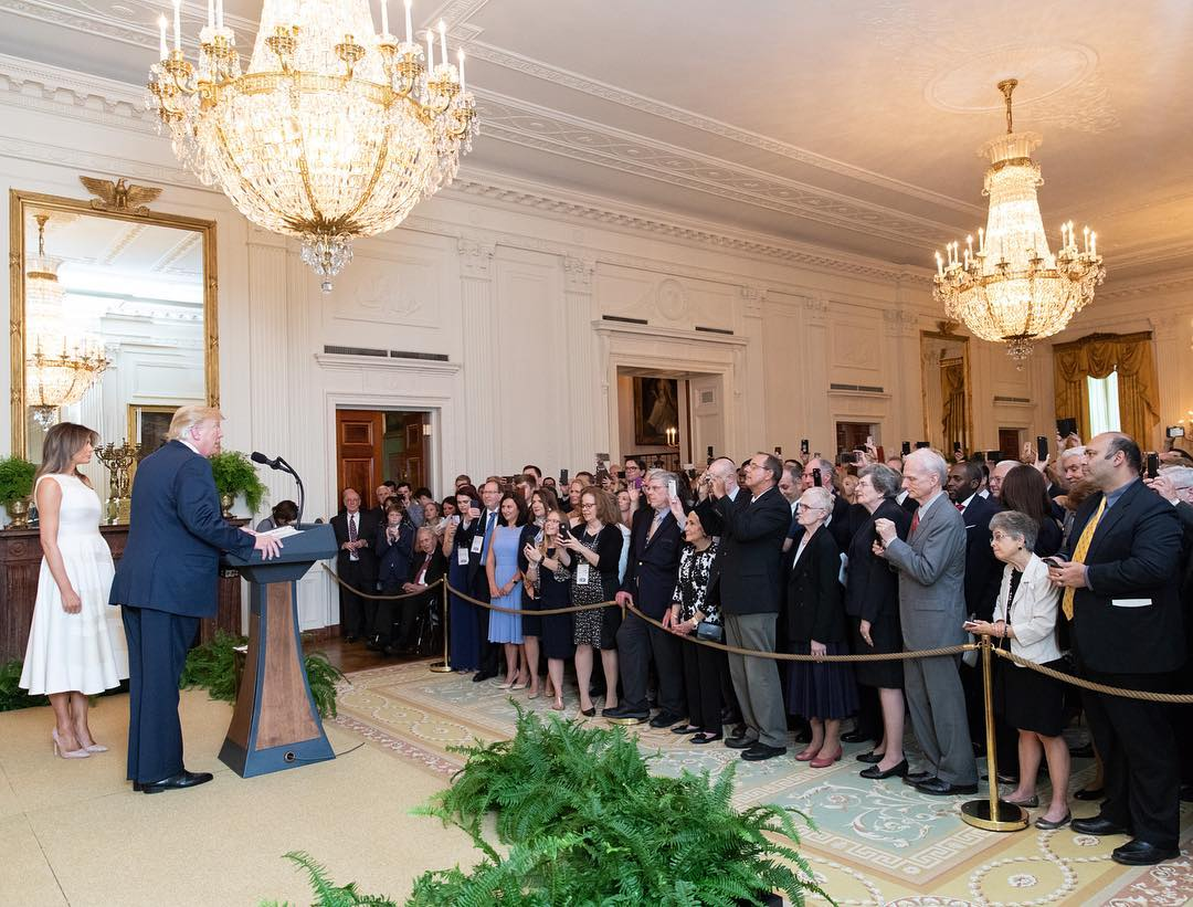 Donald J. Trump Instagram: President Donald J. Trump and First Lady Melania Trump welcome guests to the Whi...