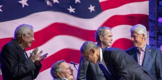 Last night, the ex-Presidents got together in Texas to support all our fellow Am...