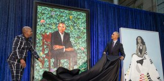 Today,  and  became the first black artists to create official presidential port...