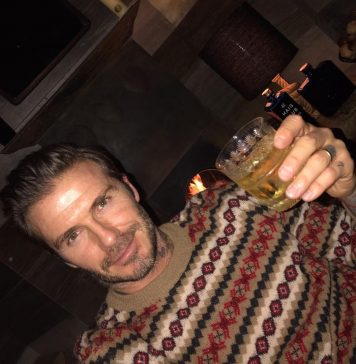 David Beckham Instagram: A Christmas toast!...