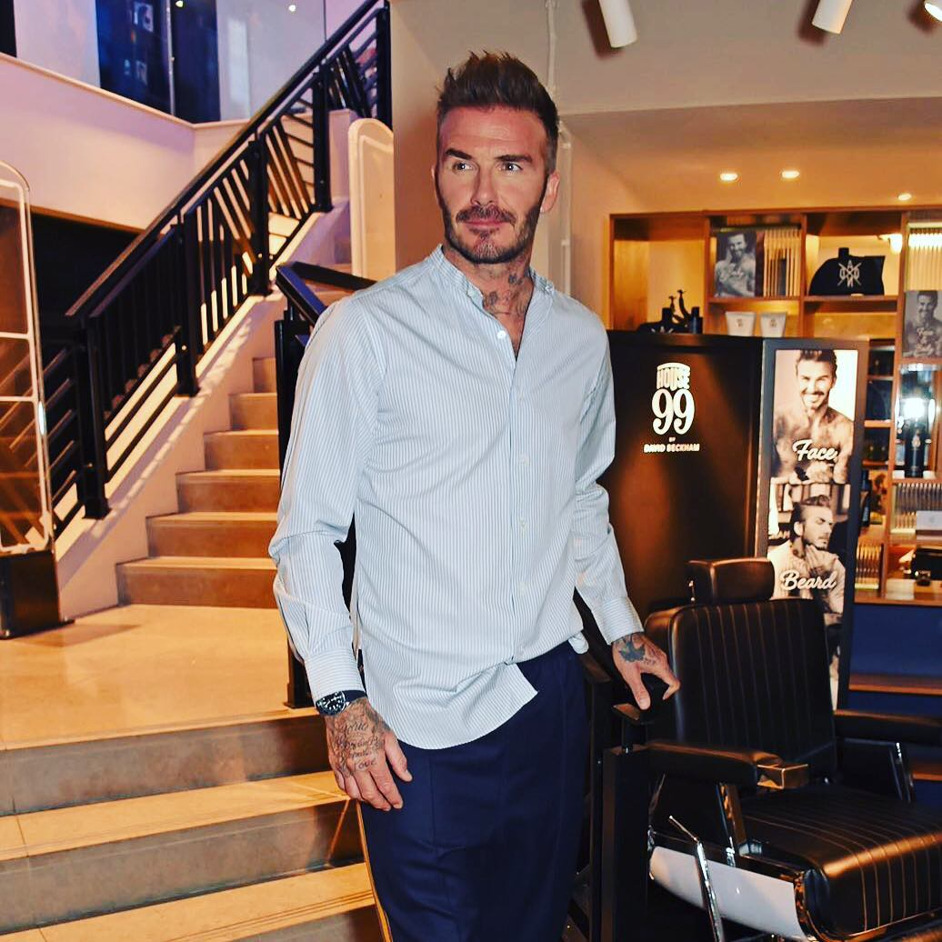 David Beckham Instagram: A great evening launching my new   collection with  ...