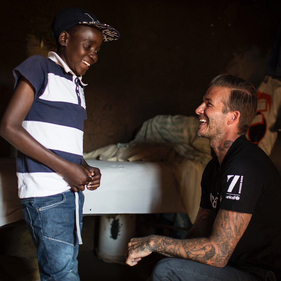 David Beckham Instagram: Amazing to see the impact the 7 Fund for  is having supporting children living w...