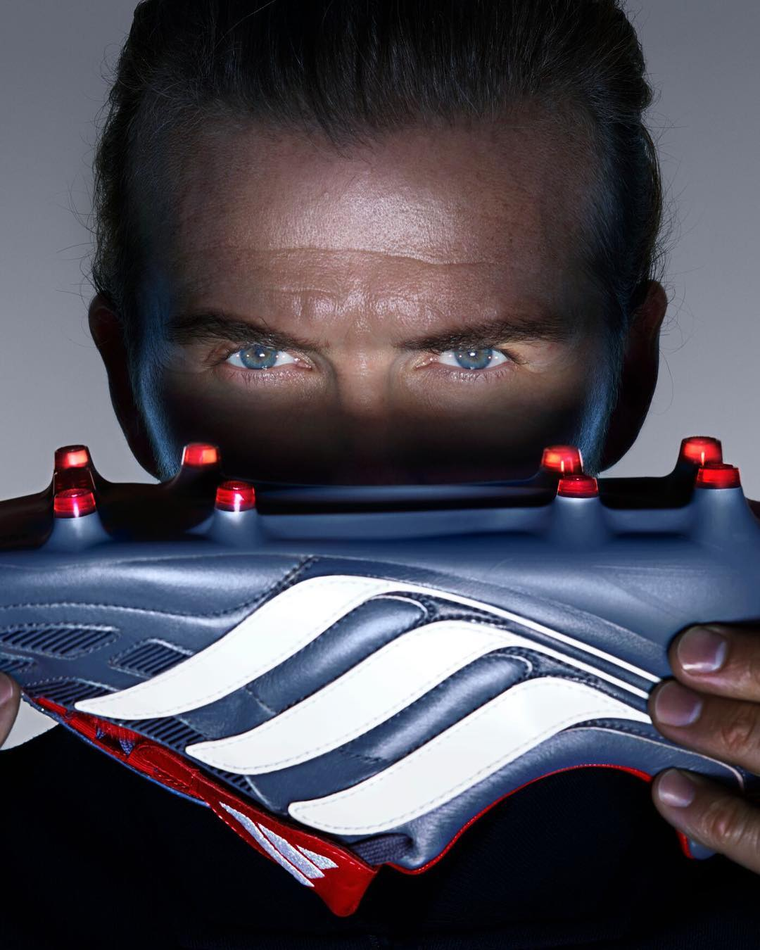 David Beckham Instagram: An icon of the game. Many memories in these boots. The Predator Precision, reima...