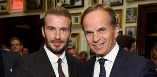 David Beckham Instagram: At the  event in NYC with Jean-Frederic Dufour, The CEO of Rolex and Tudor.  ...