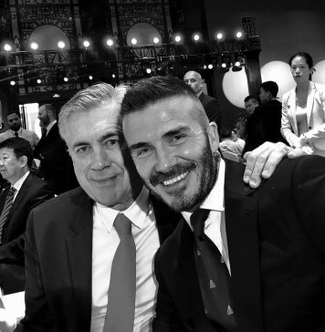 David Beckham Instagram: Back with Boss again.... Always amazing spending time with Mister  and 3 absolut...