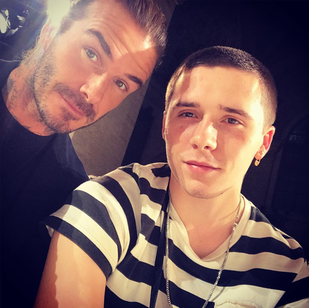 David Beckham Instagram: Great show today very proud to be in NYC with this handsome young man  ...