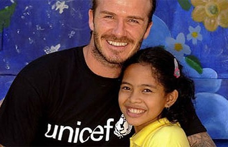David Beckham Instagram: Happy New Year , Let's bring more happiness into children's lives around the wor...