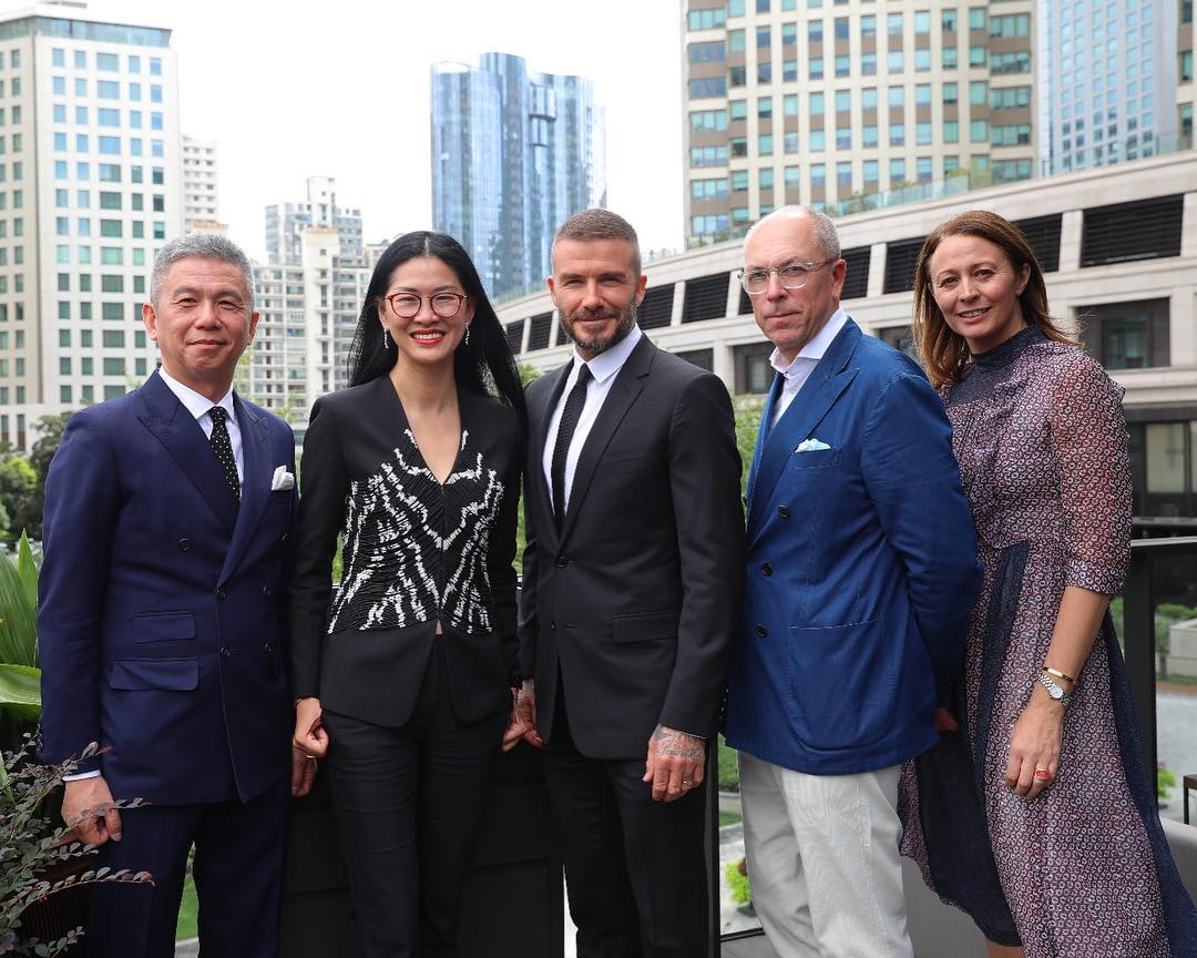 David Beckham Instagram: Honoured to be able to fly the flag for British fashion on a global scale. The o...