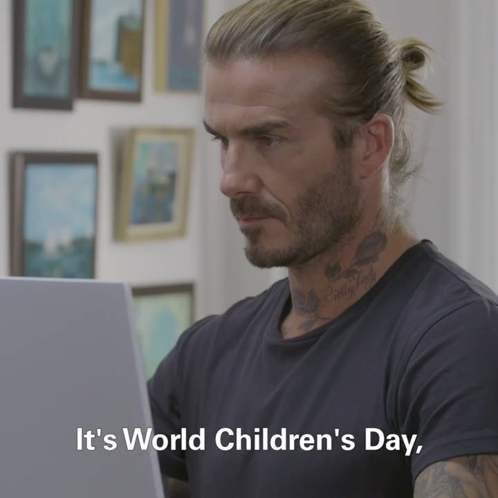 David Beckham Instagram: It's  - a day for children, by children! To celebrate, I sat down with some chil...