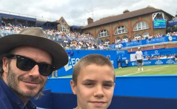 David Beckham Instagram: Lovely day with the little man at Queens   ...
