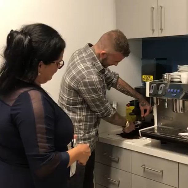David Beckham Instagram: Making the perfect Cafecito with Yaqui   ...