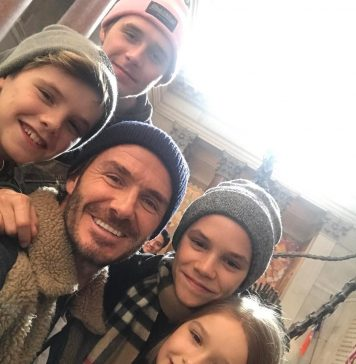 David Beckham Instagram: Nice day in NYC & a great few hours at the Natural History Museum  Keeping the l...