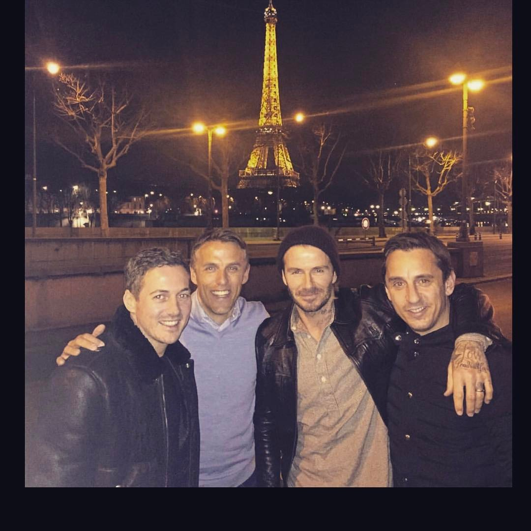David Beckham Instagram: One last time HAPPY BIRTHDAY Philip ... Nice night in a Paris    ...