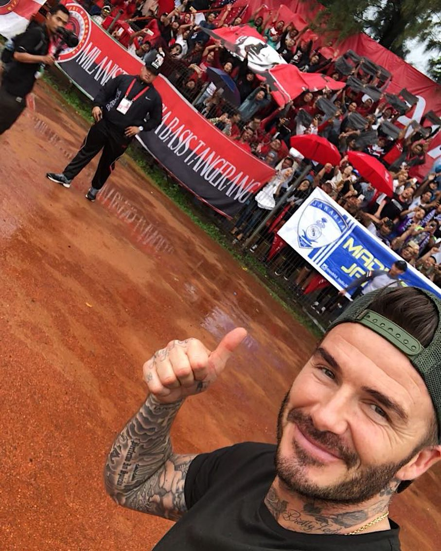 David Beckham Instagram: So amazing to be back in Jakarta thank you for the incredible welcome as always ...
