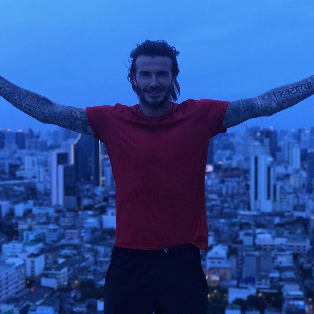 David Beckham Instagram: So happy to be in Thailand for the next few days and looking forward to chatting...