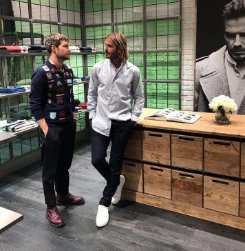 David Beckham Instagram: So proud to finally open the doors to our new Kent & Curwen flagship store at 12...