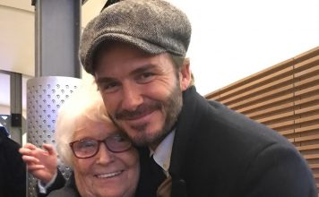 David Beckham Instagram: This wonderful lady used to look after me at Manchester United and it