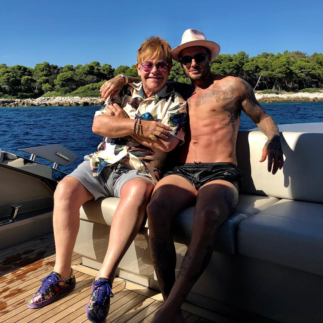David Beckham Instagram: Uncle Elton.... We have known each other now for 25 years .. Fun times with each...