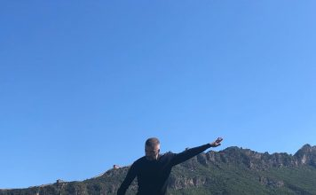 David Beckham Instagram: What a beautiful backdrop ... One of the best places I've ever hit a 50 yard pas...