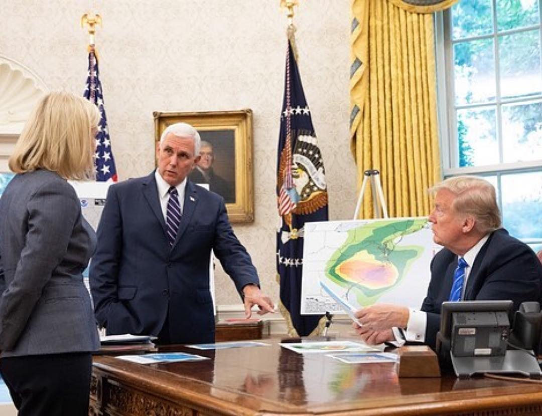 Donald J. Trump Instagram:   ・・・ President Donald J. Trump and Vice President Mike Pence are briefed on Hur...