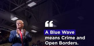 Donald J. Trump Instagram: A Blue Wave means Crime and Open Borders. A Red Wave means SAFETY and STRENGTH!...