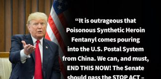 Donald J. Trump Instagram: It is outrageous that Poisonous Synthetic Heroin Fentanyl comes pouring into the...