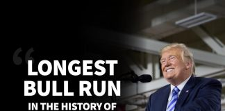 Donald J. Trump Instagram: Longest bull run in the history of the stock market, congratulations America!...