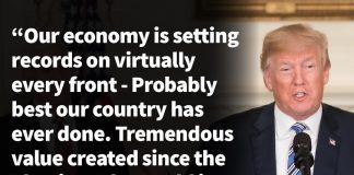 Donald J. Trump Instagram: Our Economy is setting records on virtually every front - Probably the best our ...