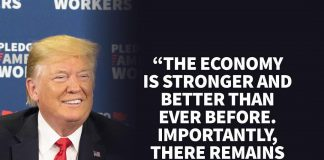 Donald J. Trump Instagram: The Economy is stronger and better than ever before. Importantly, there remains ...