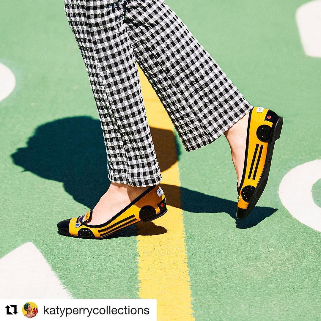 Katy Perry Instagram:   ・・・ Toot toot! Beep beep!  Rev up your back-to-school looks + head to our last...