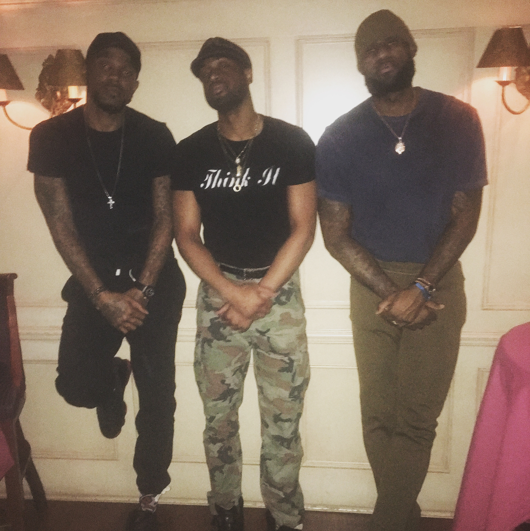 LeBron James Instagram: Great/fun times last night as always when we get together! Love my bros!   Let's...