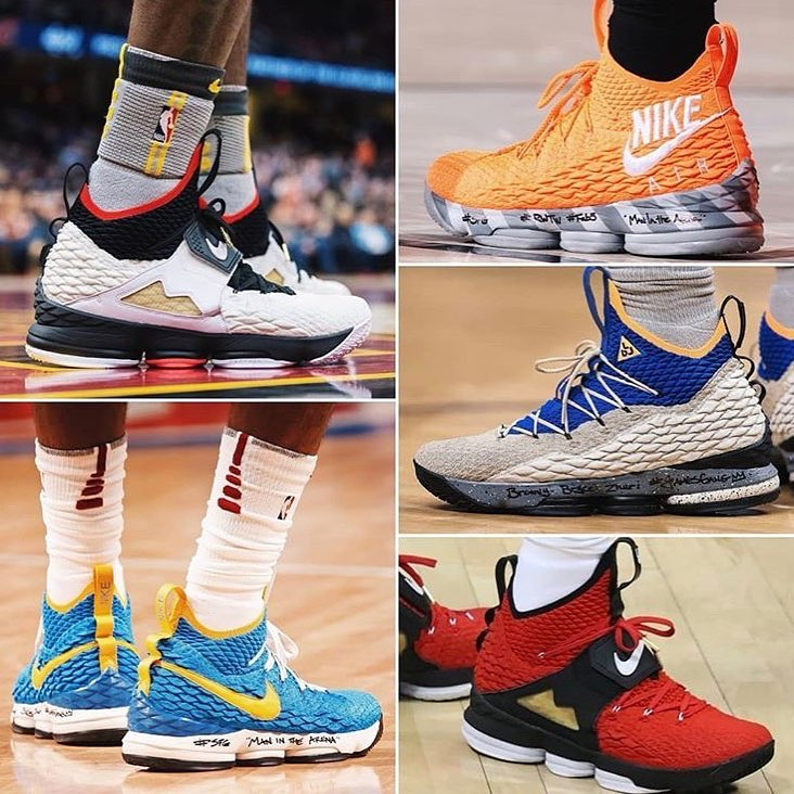 LeBron James Instagram: Which one so far from the  have y'all rocked with the most?!?! I would tell y'al...