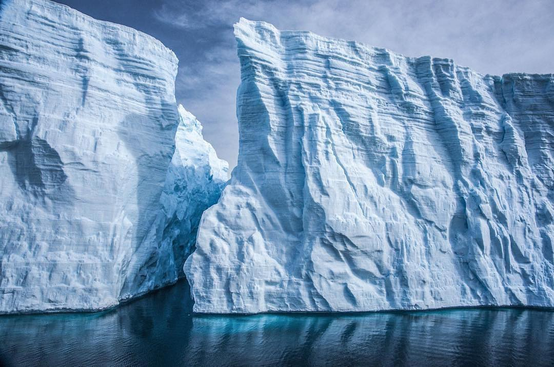 """Leonardo DiCaprio Instagram:     Antarctica / Icebergs, along with polar bears, have become another """"canary i..."""