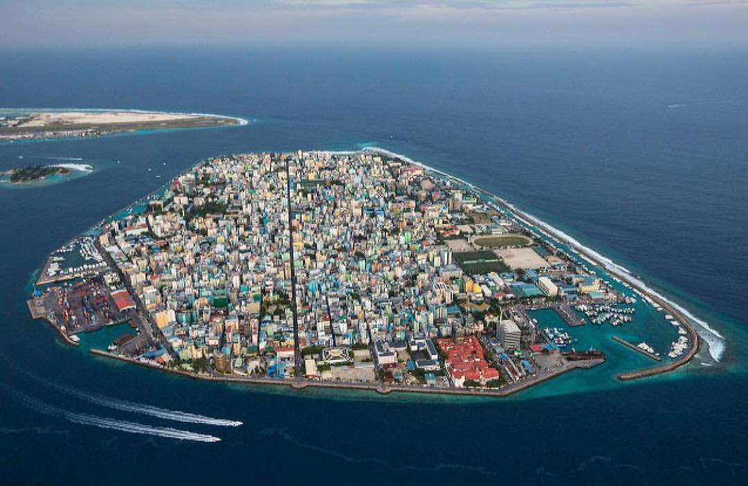 Leonardo DiCaprio Instagram:    Photograph by George Steinmetz  Malé, the capital of the Maldives is like a m...