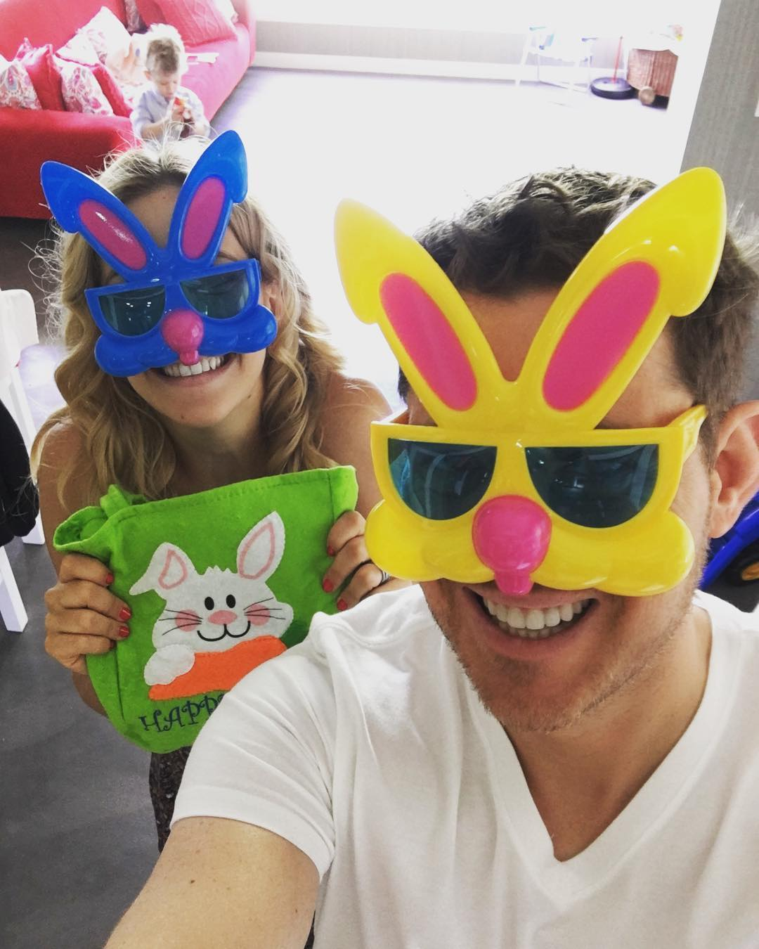 Michael Bublé Instagram: Happy Easter from our family to yours !!   ...