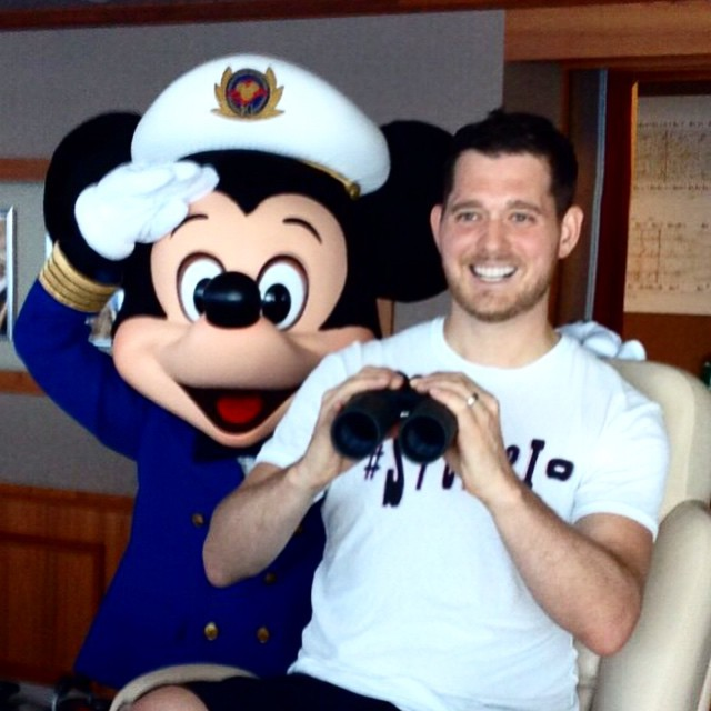 Michael Bublé Instagram: I just took my family on my very first Disney Cruise and to paraphrase the great...