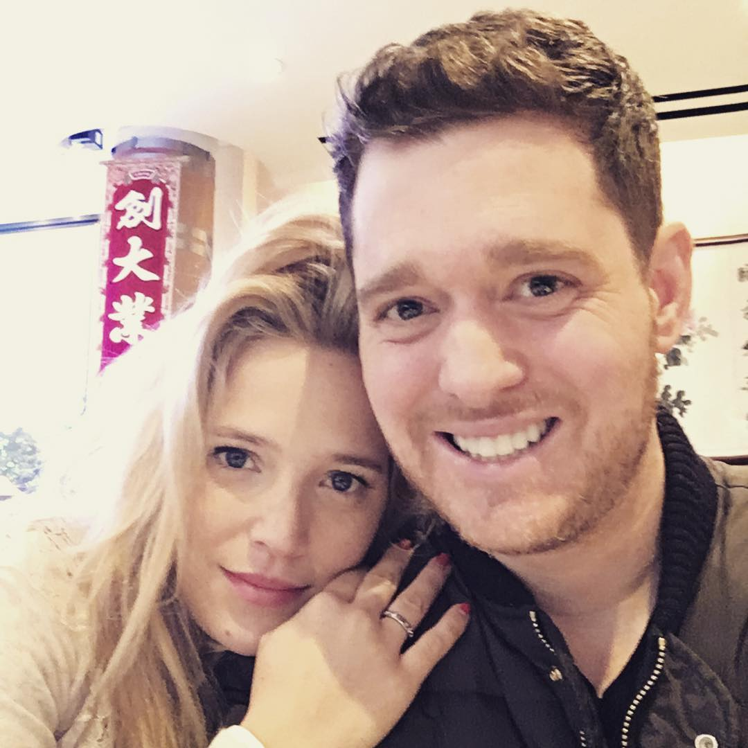 Michael Bublé Instagram: If I look happy it's because I am... I hope this Valentine's Day , someone is ma...
