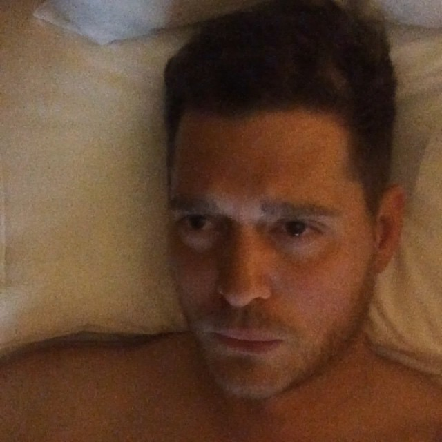 Michael Bublé Instagram: I'm in Rome and I'm sick on my day off.  I'm feeling very sorry for myself. I ma...