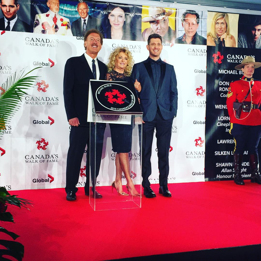 Michael Bublé Instagram: Mom and dad  Mountie  induction into the Canadian walk of fame    ...