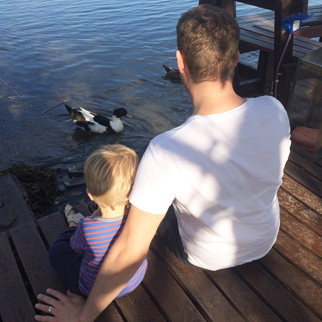 Michael Bublé Instagram: The boys are chilling and feeding the ducks today.       ...