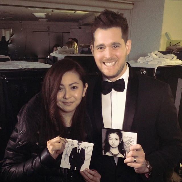 Michael Bublé Instagram: This is Mai Kuraki, she is a hugely famous singer in Japan! She was kind enough ...