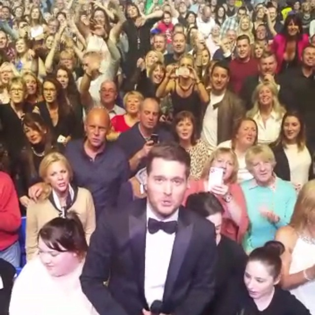 Michael Bublé Instagram: Tonight I'm posting the  video I took with all of you beautiful people during la...