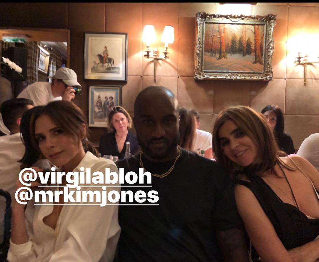 Victoria Beckham Instagram: Thank u  for a lovely dinner x So inspiring spending time with both u and  tonig...