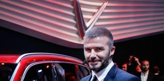 David Beckham Instagram: Excited to be at Paris Motor Show to help unveil the first cars from VinFast, a ...