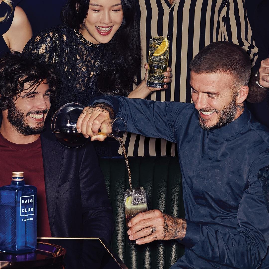 David Beckham Instagram: Who says you can't have whisky with a mixer?  ...