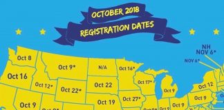 ・・・ Friends, today is the LAST day to register to vote in in the following sta...