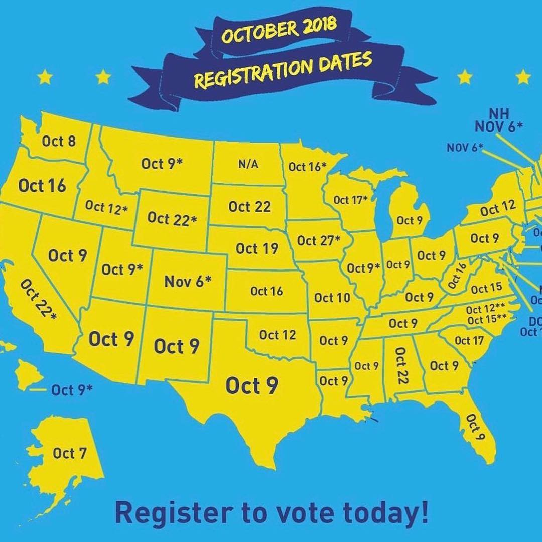 Donald J. Trump Instagram:   ・・・ Friends, today is the LAST day to register to vote in in the following sta...