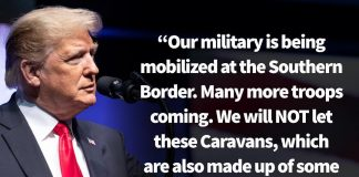 Donald J. Trump Instagram: Our military is being mobilized at the Southern Border. Many more troops coming....