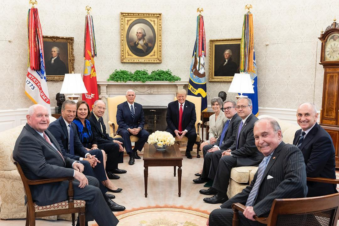 Donald J. Trump Instagram: President Donald J. Trump meets with members of Congress at a Renewable Fuel Sta...