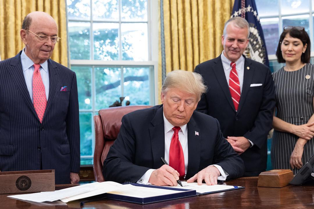 Donald J. Trump Instagram: President Donald J. Trump signs S.3508-Save Our Seas Act of 2018 Thursday, Oct. ...